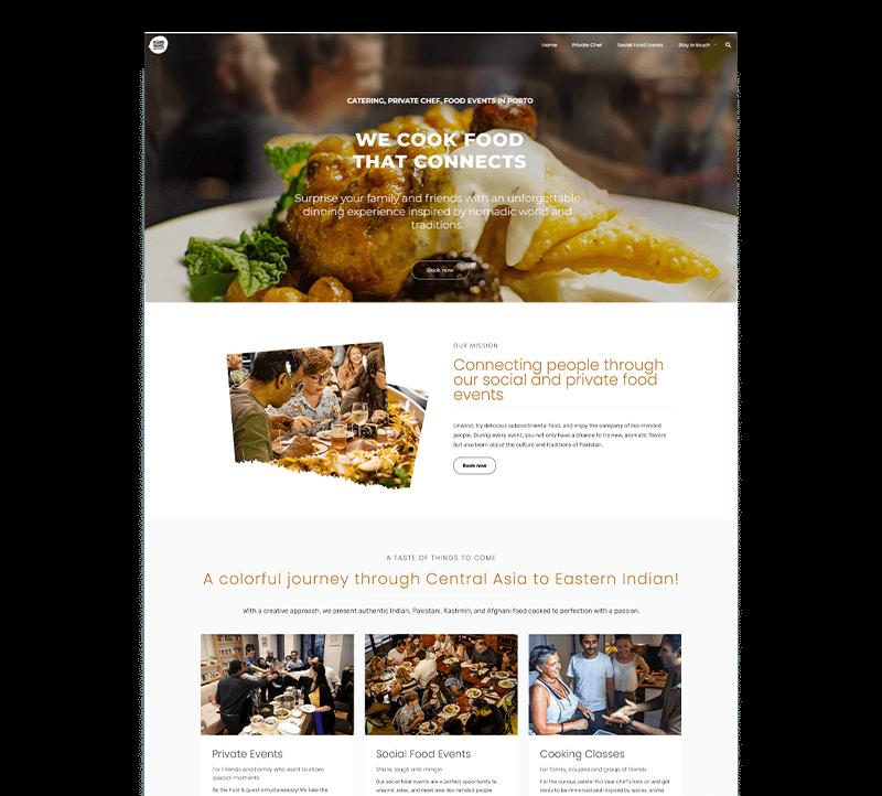 web design for the restaurant