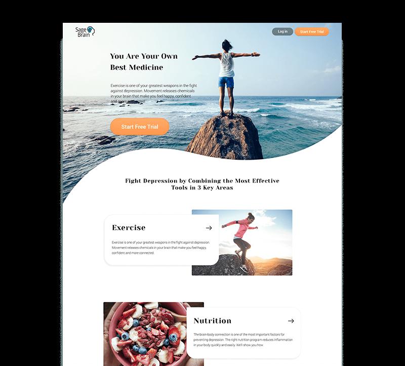 website design for an online app