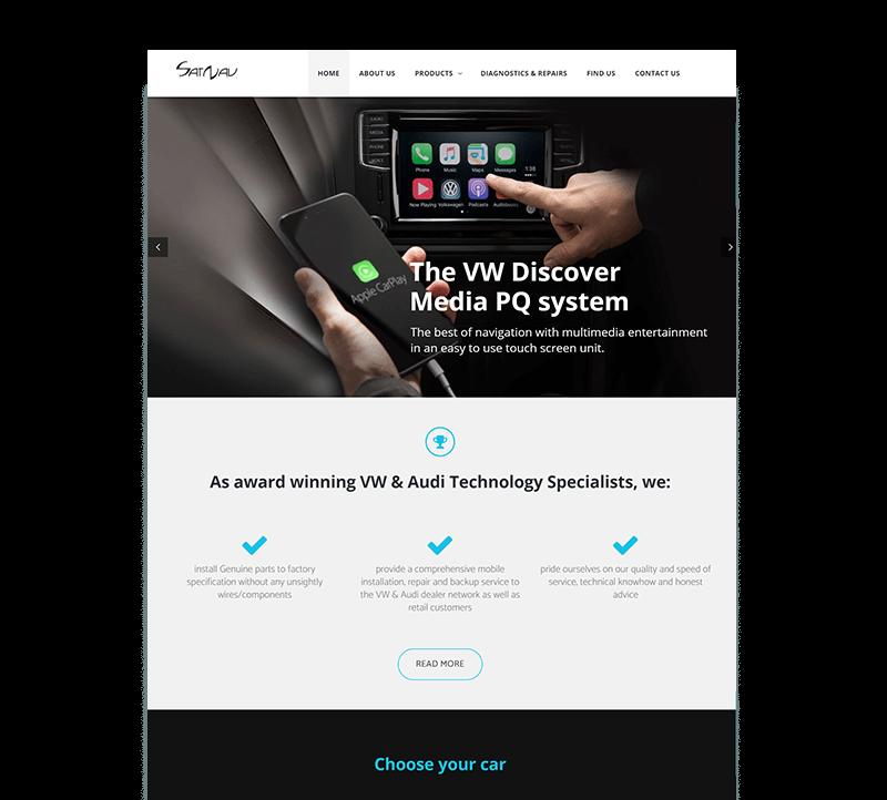 website for a car company