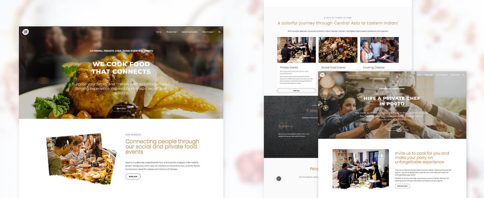 restaurant and catering webiste design